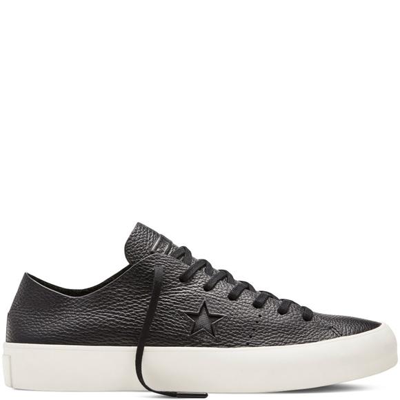 17f428ec4e56 Converse One Star Prime Ox Black Leather Size 12